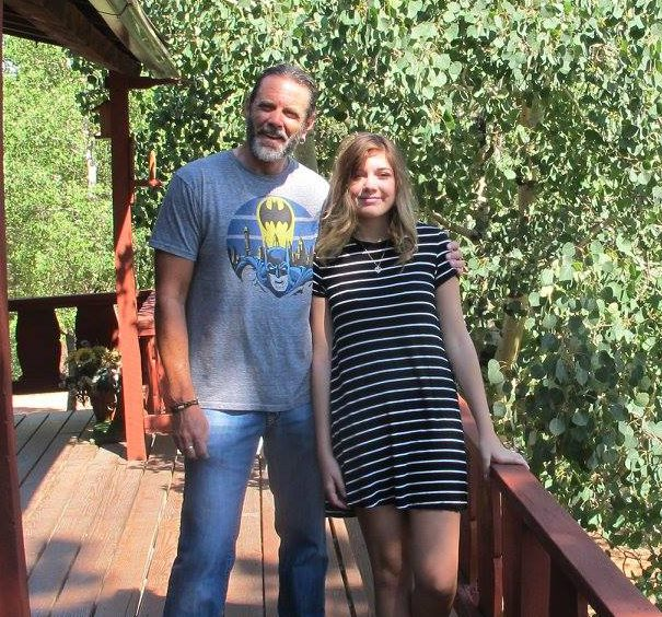 Lauren with her father, Vern.