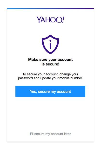 secure yahoo account