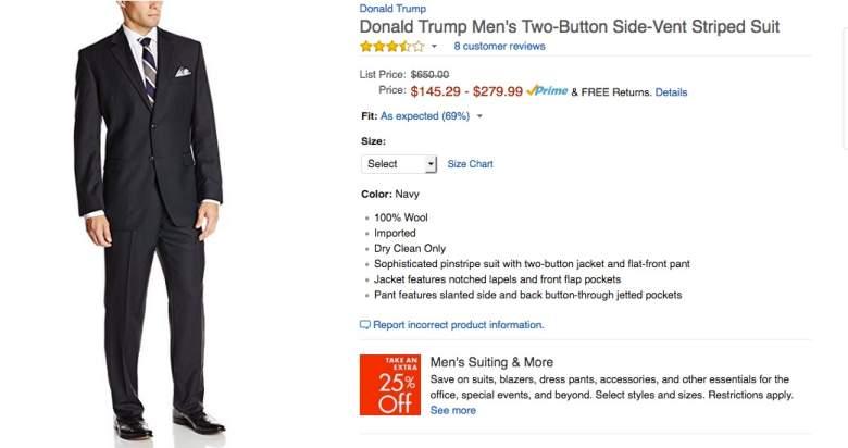 donald trump suits, where are made, donald trump ties, china, bangladesh, turkey