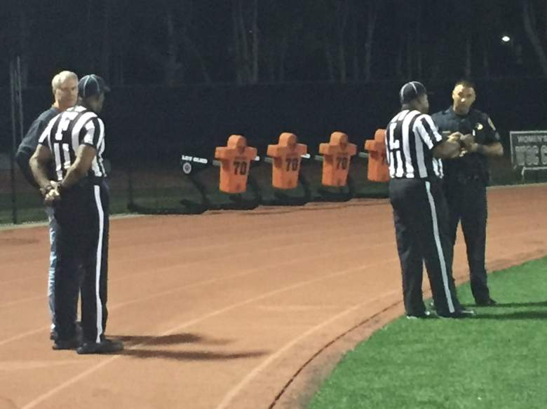 Game officials were interviewed by police following the game (twitter.com/vcscolleges)
