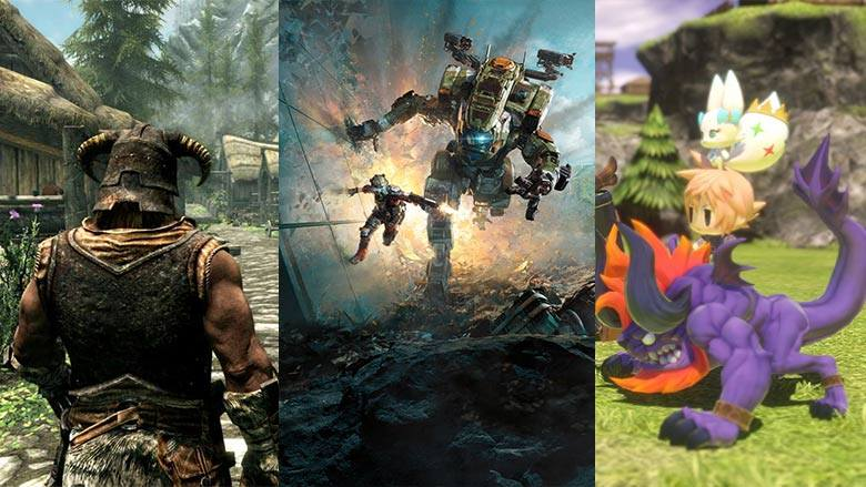 Titanfall 2, World of Final Fantasy, The Elder Scrolls Skyrim Remastered