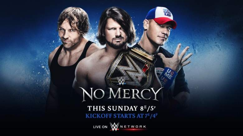 WWE No Mercy, WWE No Mercy triple threat, john cena aj styles dean ambrose