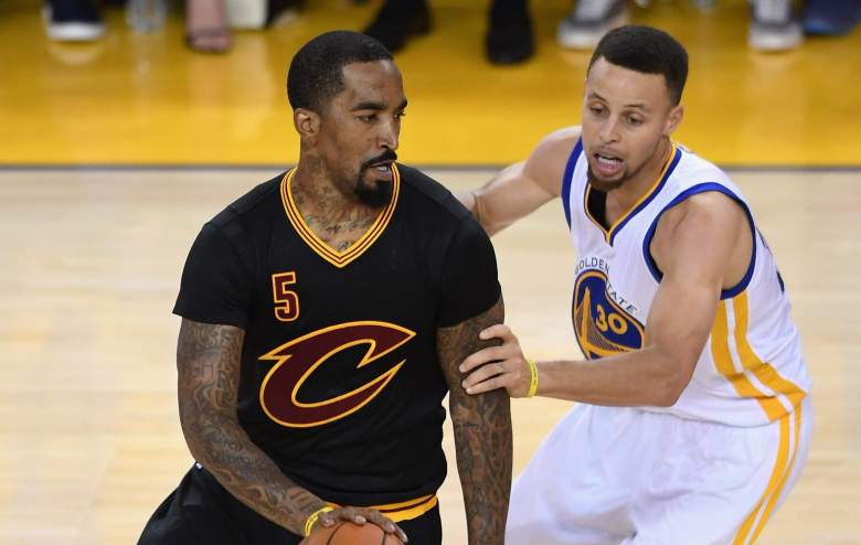 J.R. Smith Stephen Curry, 2016 NBA Finals