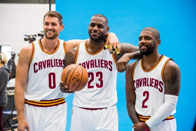 Kevin Love, Lebron James, Kyrie Irving, Cleveland Cavaliers
