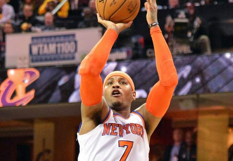 Carmelo Anthony Knicks vs. Cavaliers