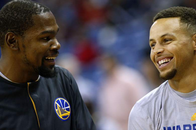 Kevin Durant Stephen Curry Warriors vs. Pelicans