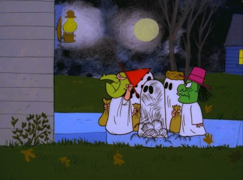 Lucy, Charlie Brown, Pigpen, It's The Great Pumpkin Charlie Brown, Snoopy