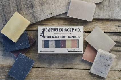 Craftsman Soap Co. Soap Sampler, 8-pieces All-natural Soap , best stocking stuffer