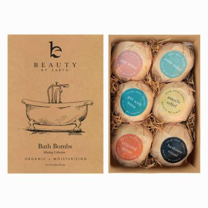 Bath Bombs Gift Set - USA Made Organic & Natural Ingredients – Surprise Your Mom, Wife or Girlfriend with 6 Large Relaxing Epsom Salt Soak Balls in a Fizzy... , best stocking stuffer