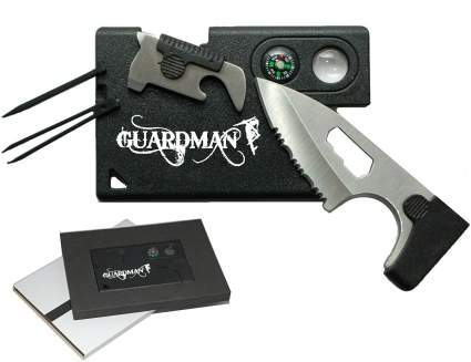 Guardman Card Tool 10 in 1 Camping Knife Survival Card Christmas Gifts Stocking Stuffers for Men , best stocking stuffer