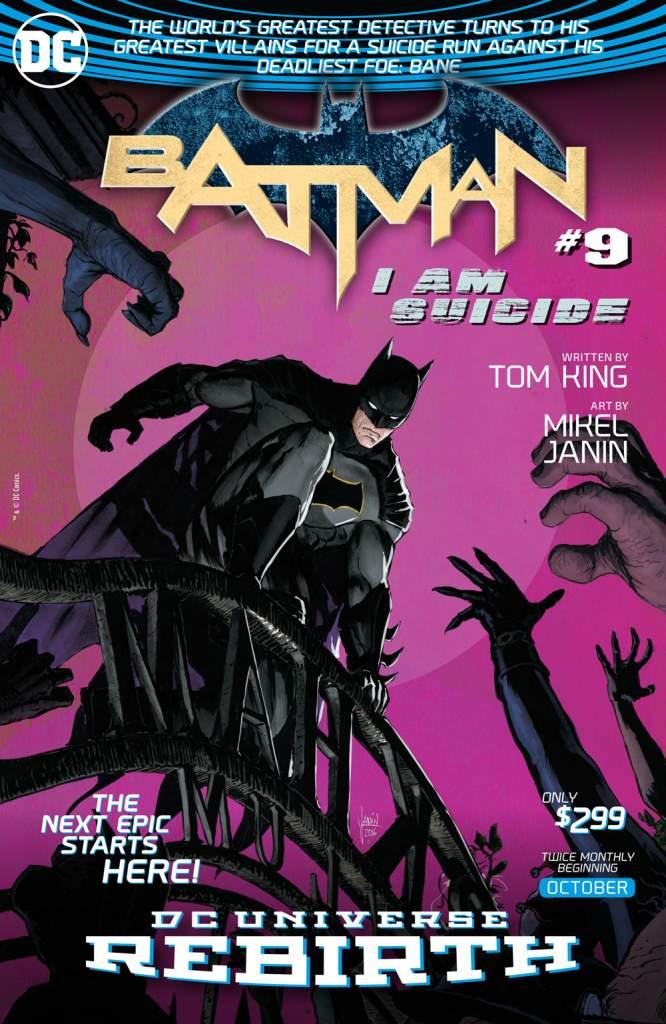 Batman 9, I Am Suicide, Batman Rebirth, Mikel Janin