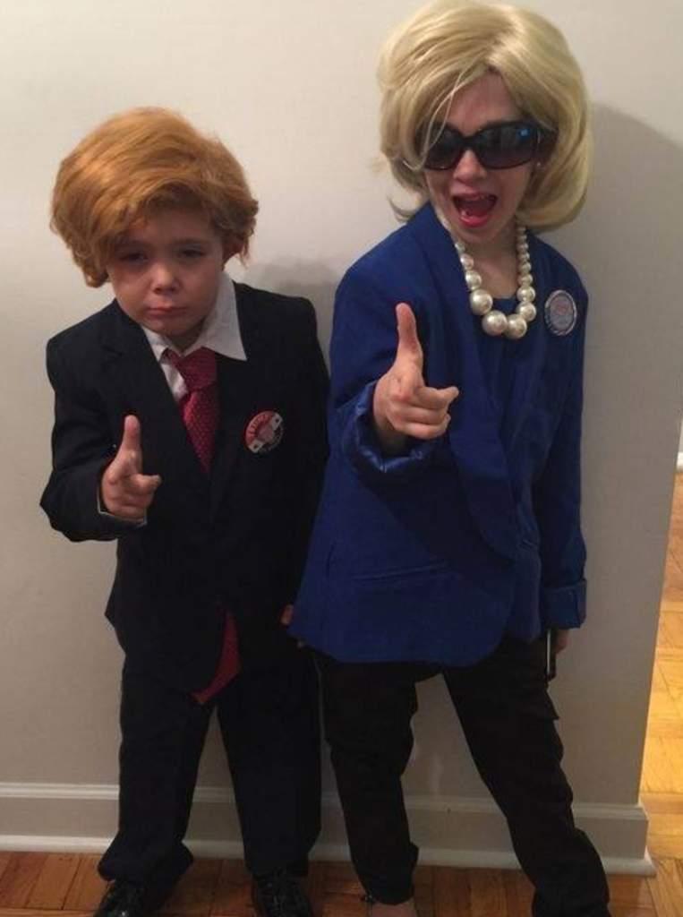 Donald Trump DIY Halloween Costume, Donald Trump Halloween Costume, Donald Trump Wig Halloween, Hillary Clinton Halloween Costume, Hillary Clinton DIY Halloween Costume, Easy trump and clinton halloween costume ideas