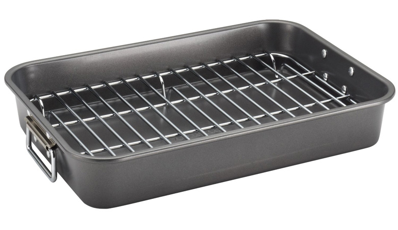 farberware-nonstick-bakeware-11-inch-x-15-inch-roaster-with-flat-rack