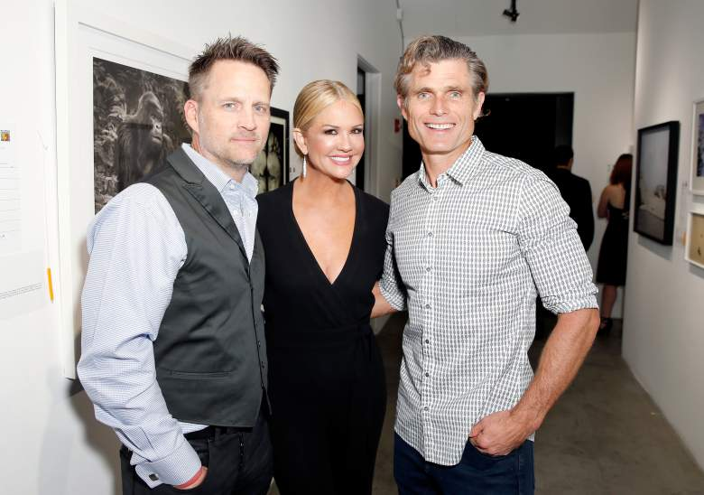 """Keith Zubchevich (left), Nancy O'Dell and Best Buddies International Founder and Chairman Anthony Shriver (right) attend Best Buddies """"The Art of Friendship"""" Benefit Photo Auction on March 3, 2016 in West Hollywood, California. (Getty)"""