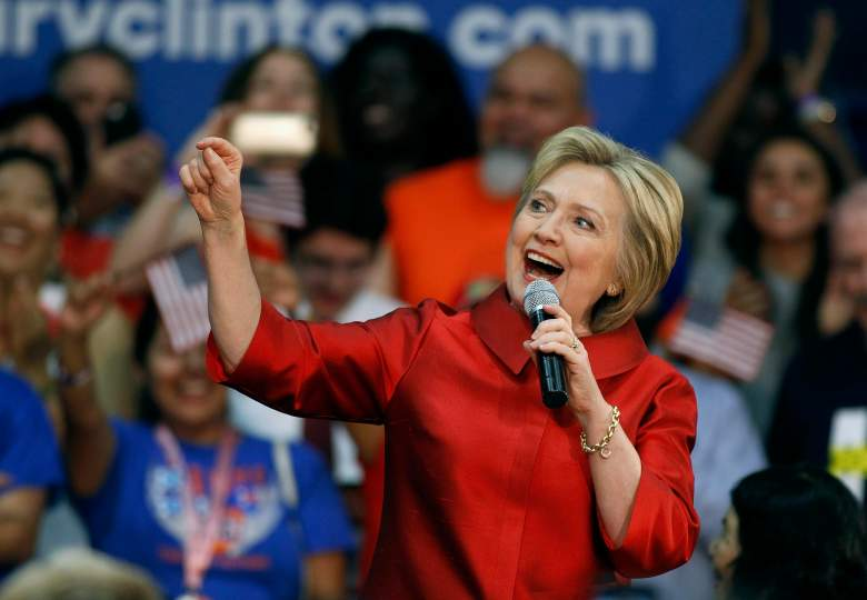 Hillary Clinton appeals to Arizona voters during a rally in Phoenix. (Getty)