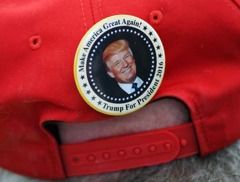 Trump Hat, Donald Trump pin, Donald Trump red hat