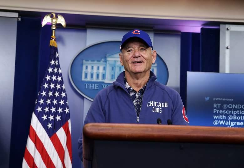 Bill Murray, White House Press Room, Bill Murray Cubs, Bill Murray World Series