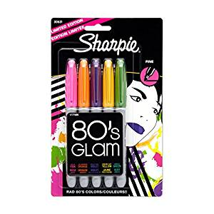 Sharpie 80's Glam Assorted Colors 5 Pack