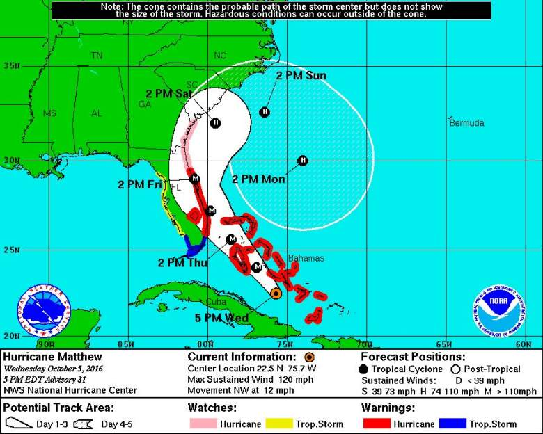 Latest Hurricane Matthew tracking, Matthew tracking, Hurricane Matthew Map