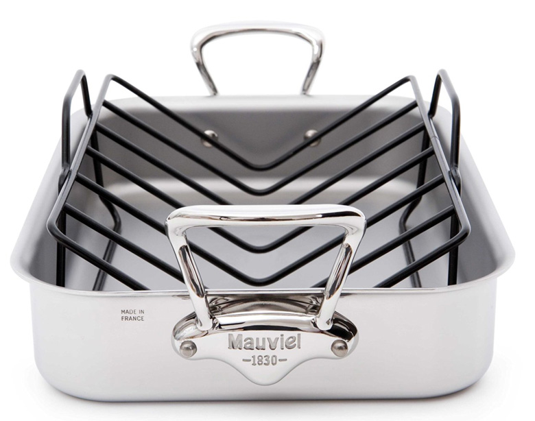 mauviel-made-in-france-mcook-5-ply-stainless-steel-5217-15-15-7-by-11-8-inch-rectangular-roasting-pan-and-rack