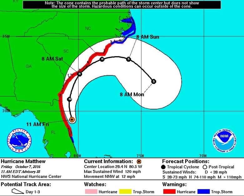 Hurricane Matthew, Hurricane Matthew Friday, Hurricane Matthew North Carolina