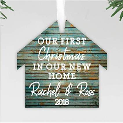Customizable Our first Christmas ornament