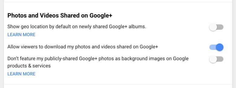 Google Plus photos download