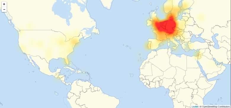 Battlefield 1 outage map, Battlefield 1 servers down, Battlefield 1 server outage map