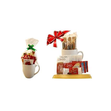 tazo tea gift set in a mug