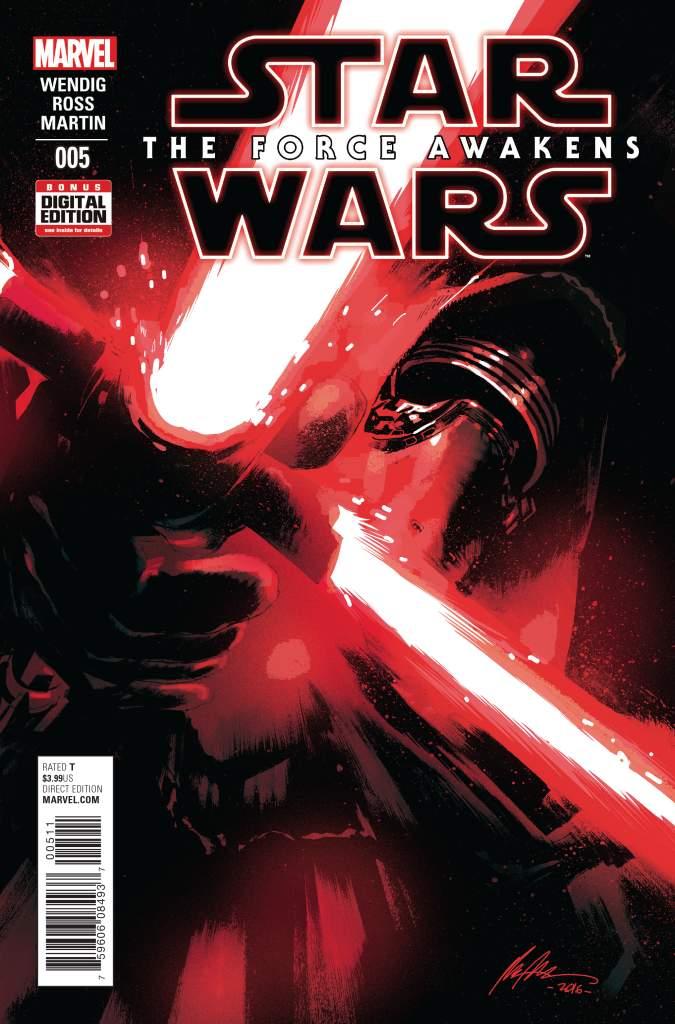 Rafael Albuquerque, The Force Awakens comic, Star Wars The Force Awakens, Kylo Ren art, Kylo Ren