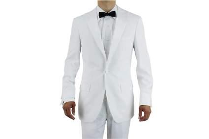 white tuxedo for groom
