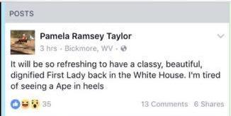 Ape in heels, West Virginia mayor, Beverly Whaling