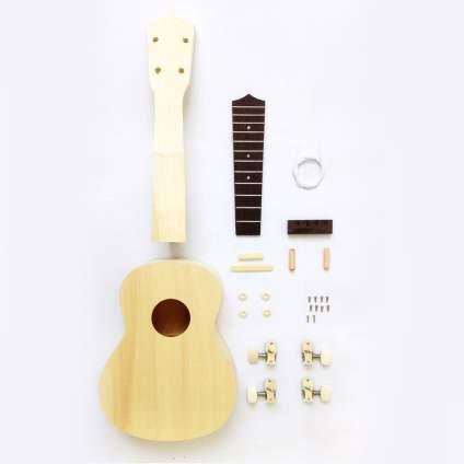 Zimo DIY Ukulele Make Your Own Ukulele Hawaii Ukulele Kit , best creative gift