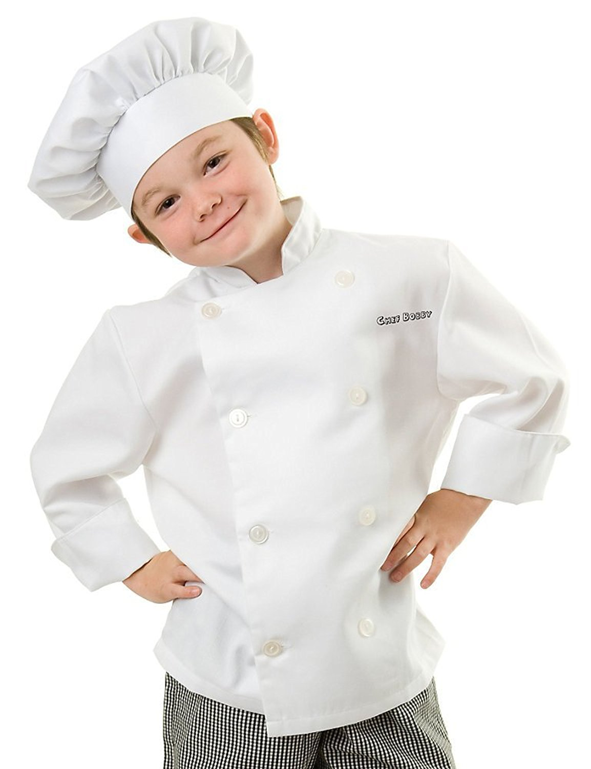 personalized kid's chef coat