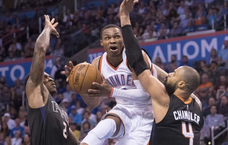 Russell Westbrook Suns vs. Thunder