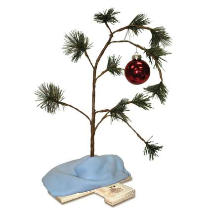 "ProductWorks Peanuts Charlie Brown Christmas Tree with Linus Blanket, 24"" ,best cheap christmas decoration"
