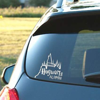 hogwarts alumni window decal, sticker, best harry potter gift