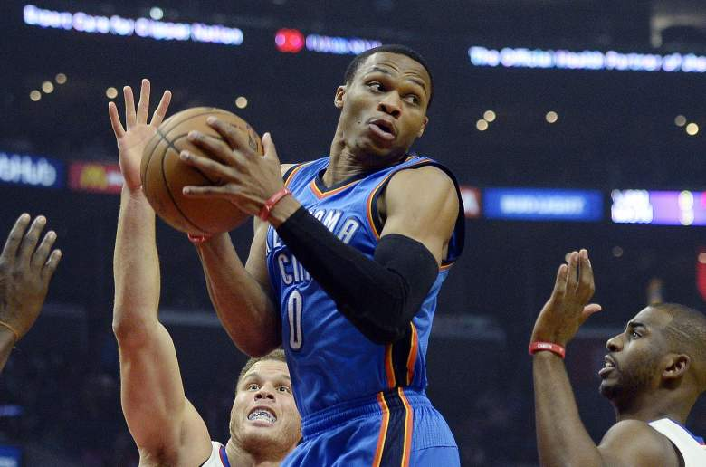 Russell Westbrook Thunder vs. Clippers