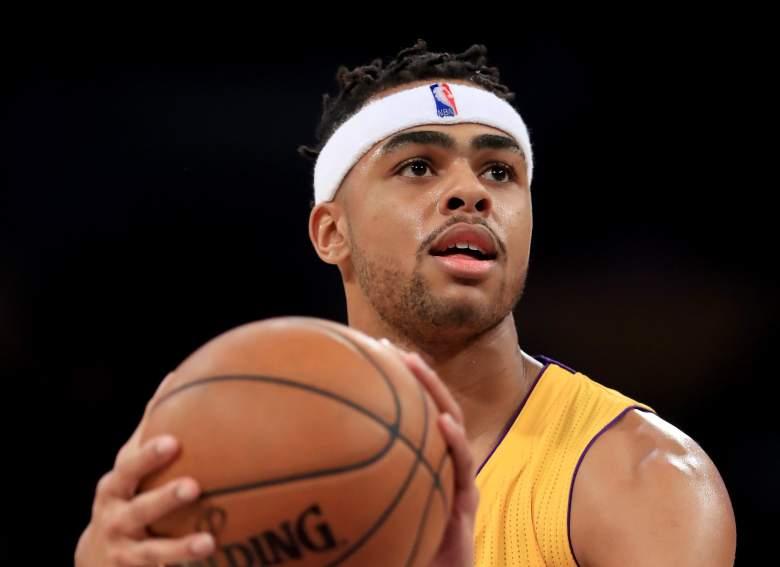 D'Angelo Russell Mavericks vs. Lakers
