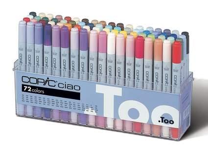 Copic Premium Artist Markers - 72 color Set, best creative gift artistic gift, unique