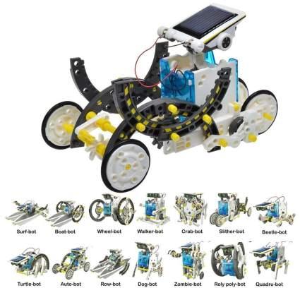 Extpro 14 in 1 Solar Powered Robot Kit, best creative gift, stem gift, solar robot