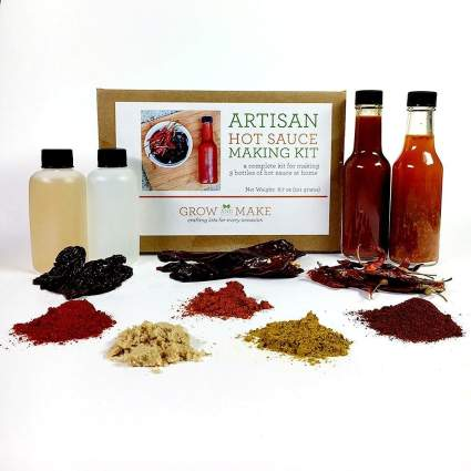 Artisan Hot Sauce Making Kit - Includes everything needed to make 3 sauces , best unique gift, creative gift, cooking gift
