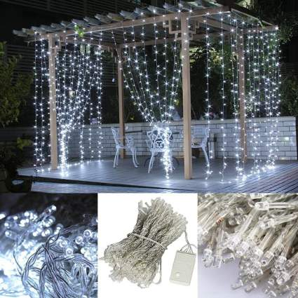 AGPtEK [UPDATE VERSION] 9.8ft 300 LED Weatherproof Freeze-proof Outdoor String Light Curtain Light for Christmas Xmas Wedding Party Home Decoration - White , best cheap christmas decoration