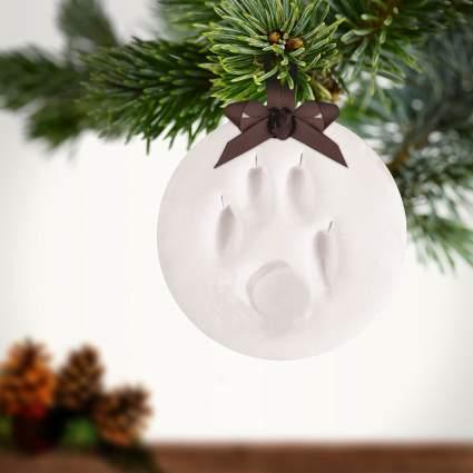 Pearhead Pawprints Pet Keepsake Ornament , best pet personalized ornament, christmas tree