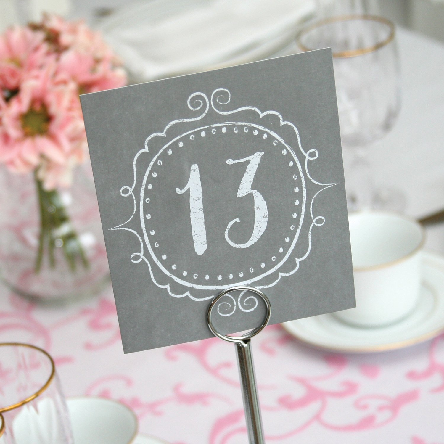 1-40 Vintage Wooden Table Numbers Table Signs Wedding Party Table Decoration