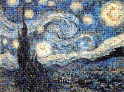 best creative gift, Buffalo Games Photomosaic, The Starry Night - 1000pc Jigsaw Puzzle
