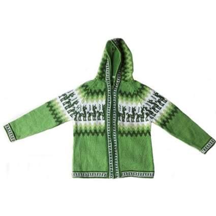 Alpakaandmore Unisex Hooded Inca Cardigan