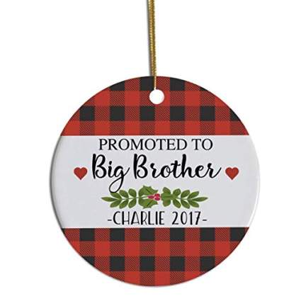 Promoted to Big Brother Christmas Ornament