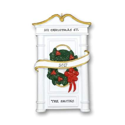 Personalized Christmas Ornament Home Door