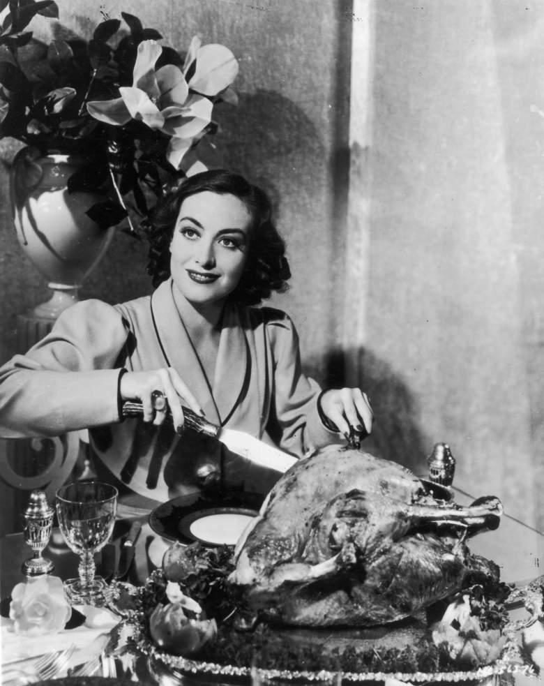 Joan Crawford Thanksgiving, Weird Thanksgiving photos, Thanksgiving 2016